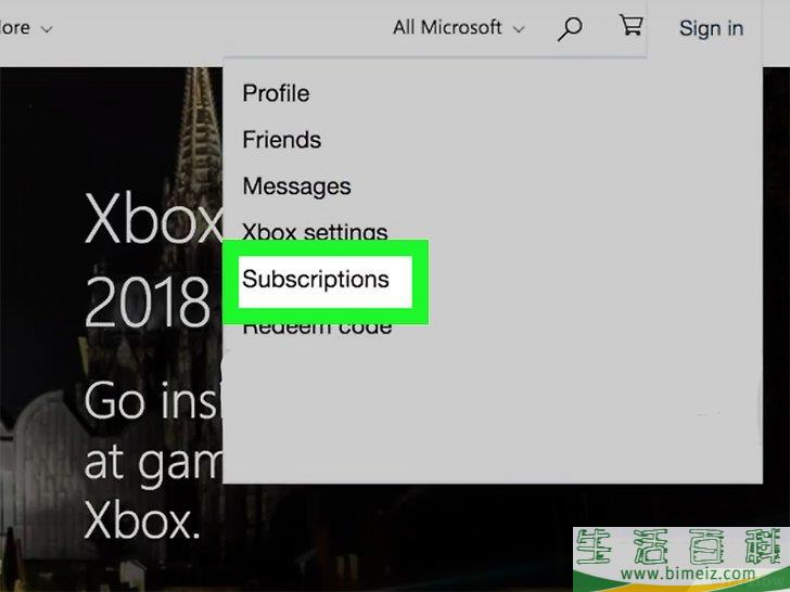 如何取消Xbox Live