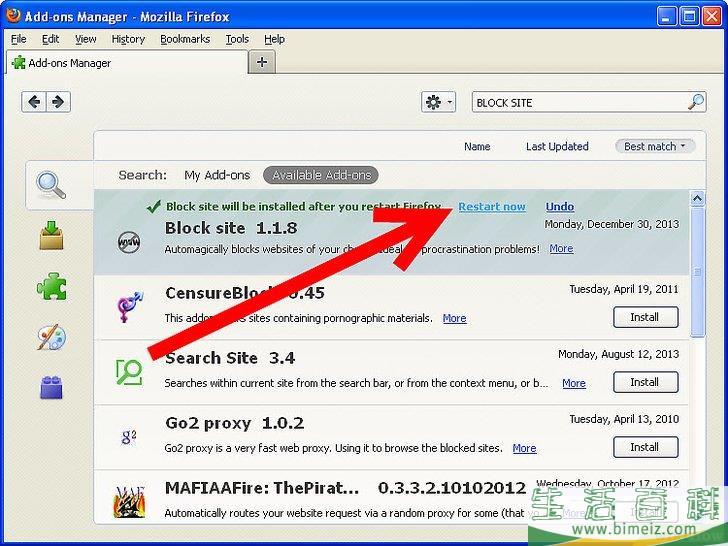 怎么在火狐(Firefox) 阻断和开放互联网站