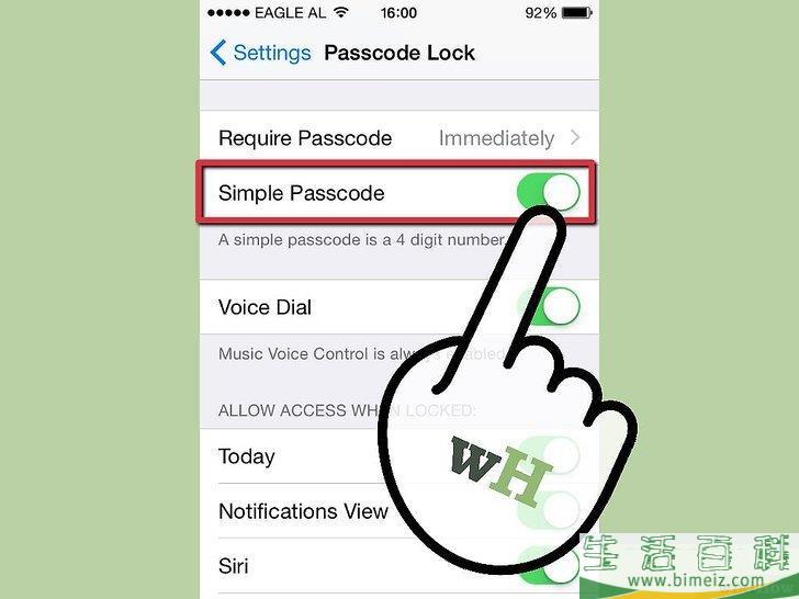 怎么为iPhone设置锁屏密码