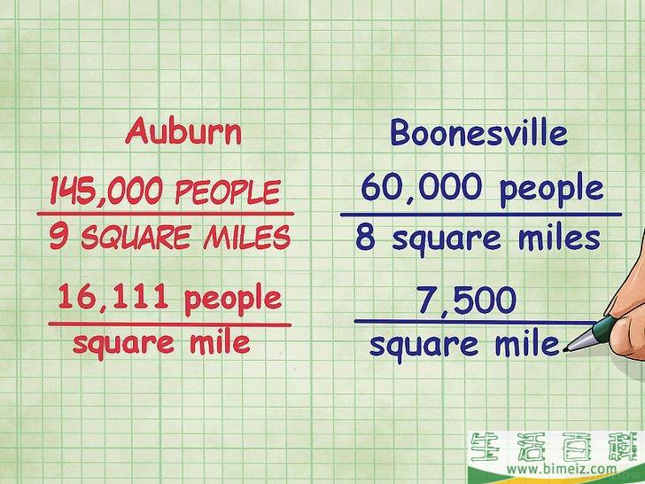 密度 計算 人口